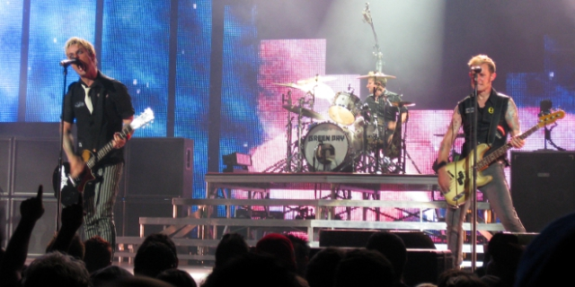 Green Day en el escenario